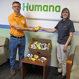 Toy drop off at Humana