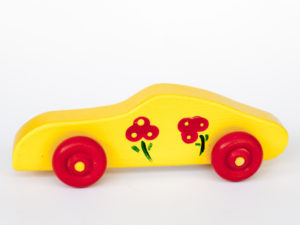 Yellow Red Wheels Car Image